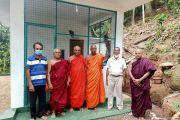 Handing over constructed Bhavana  Kuti